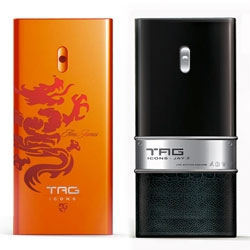 TAG commissioned designs from a set of diverse celebrities for the packaging of their body spray - Ami James incorporated classic tattoo artwork into his design while Jay-Z's speaks more about luxury with a faux (?) reptile skin covering.