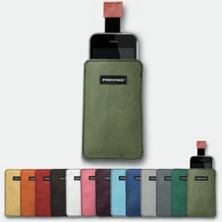 Freitag recently introduced the F22 iPhone sleeve, made with an individual roadkill tarp exterior and a velvet interior lining that automatically cleans the iPhone.