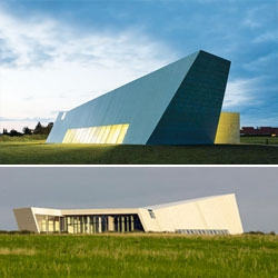 The Church of the Holy Cross is beautifully minimalist building by KHR Arkitekter in Jyllinge, Denmark.