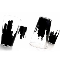 Estudio Breder's Night&Day cup - the skyline and the mood changes depending on if the cup is flipped up or down.
