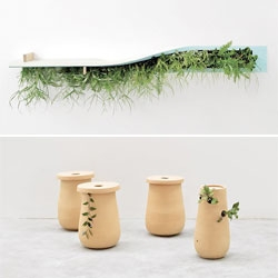 Patrick Nadeau created 'Nature Individuelle', a series of planters/objects emphasizing the importance of nature in our world. There are some great objects in the series.