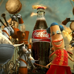 The latest installment of The Coca-Cola Happiness Factory-The Movie. These beautiful animated commercials are the highest rated global spot The Coca-Cola Company has ever tested.