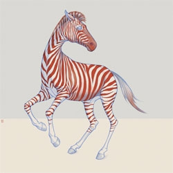 Love this zebra print by Richard Wilkinson.