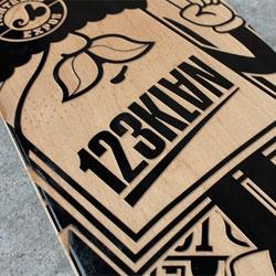 123KLAN Engraved Sk8 Boards.