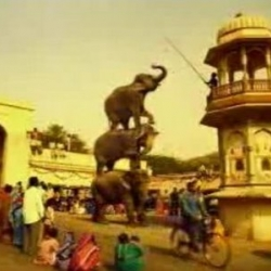 The Indian Elephant Tower is one of Pepsi's latest ads. It is one of the most beautiful and most entertaining Pepsi ads  I have ever seen. That elephant tower scene is amazing.