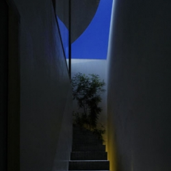 Light of the sun and moonlight play in the LOVE HOUSE, and rain and wind visit LOVE HOUSE, and birds and insects visit a tree and a fruit tree of LOVE HOUSE. The situations differ every day...