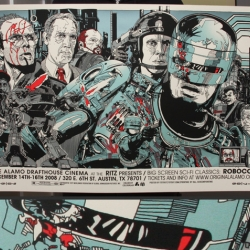 Part man. Part machine. All cop. We're loving Tyer Stout's new screen-printed Robocop poster!