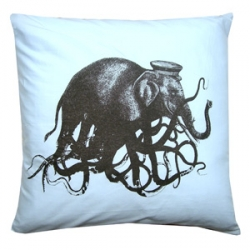 Resist's OCTOPHANT pillow - whats up with the hat?