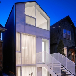 This house in Toronto Ontario was designed and built to sell on the Canadian M.L.S. As both designer and developer of this project, Reigo & Bauer believe architecturally designed houses should be available to the average homebuyer.