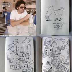 Summer sketchbook by artist Jeremyville capturing images from the Lower East Side.