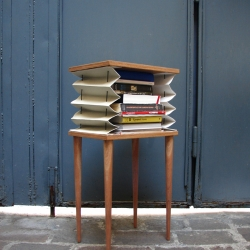'Un·tidy' side table which expands to suit the contents being stored within it, by Kostantia Manthou.