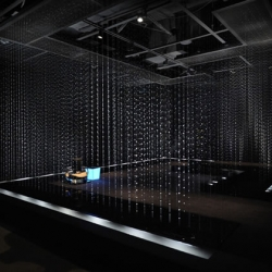 Takashi Sugimoto, leading designer for Super Potato in Japan, has two contemporary tearooms on exhibition at the Toto Ma Gallery in Nogizaka, Tokyo.  The first is composed of steel and the second out of water!