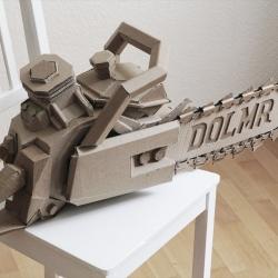 German art director and designer Bartek Elsner creates all kinds of clever sculptures using only humble cardboard.