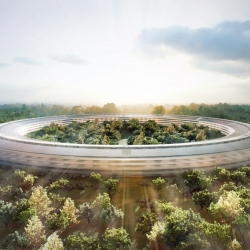 New images and details of Apple's Norman Foster-designed UFO HQ, planned for Cuptertino, California. Steve Jobs himself thinks it makes for a suitable spaceship.