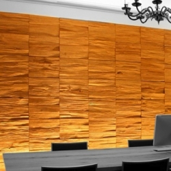 'Split' decorative wood panels by Klaus Wangen.