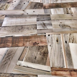 Floor made from recycled shipping pallets. made by produktWerft / Sascha Akkermann