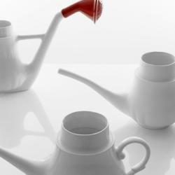 Watering teapots by designer Antonio Aricó.