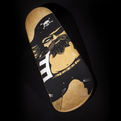 'Captain Sturnbörd' one-off hand-painted skate deck by JPK, available Friday 19 September, 1600 UK time.