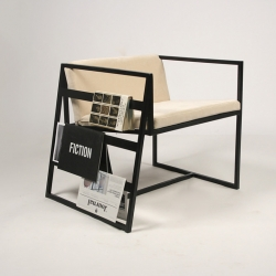 14 by Lukas Avenas, a young designer Lithuania, a chair with a shelf for your books and magazines.
