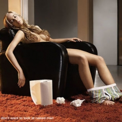 Men don't like to look at naked men - that is why Danish men's underwear company JBS produces alternative ad campaigns for their products