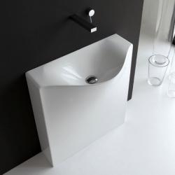 'Back' minimal washbasin by Meneghello Paolelli.