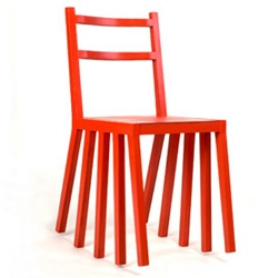 Kur Di Ka rocking chair, reminds me of the multiple legs  when will coyote was trying to catch  the road runner.