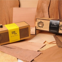 From the southern roots of Latin America comes the new series of loudspeakers WUD by GrupoVibra. Made from wood from self-sustaining forests, these active speakers bring a characteristic retro design of the first radios.