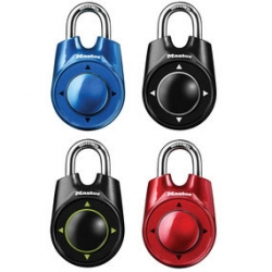 The 1500i Speed Dial combination lock from Masterlock opens on directional movements.