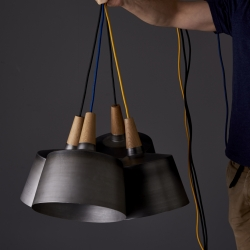 Australian design company Noddy Boffin, have released a new pendant light inspired by the conical form of a 'morse Taper' (aka machine taper).
