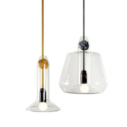 Designers Andy and Chris Vernall of London based studio V2 imagined the 'Knot Pendant Lights'.