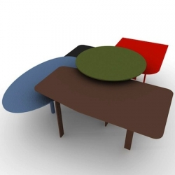 'Collage' tables by Alain Gilles for Bonaldo will be shown in a few days at Salone Internazionale Del Mobile 2011 - Milano.