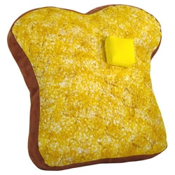 For all the toast lovers amongst us -- breakfast food pillows.  By Sofa Garden