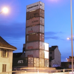 New Freitag store in Zurich made from shipping containers.