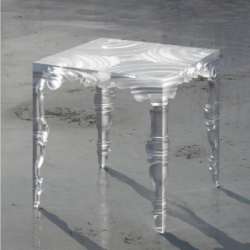 "The Circa 15th Century stool by Kochi Architect's Studio, refer to classical shape in Europe of the 15th century ""Renaissance"". There are ""old and new"" ""abstract and embodiment"" ""ornament and anti-ornament"" ""reality and unreality"" in it."