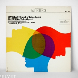 Striking batch of Modernist LP album covers, this one by Ernest Socolov.