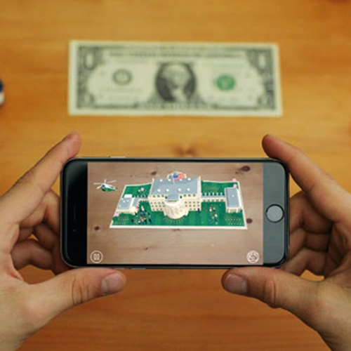 1600 the app - from POTUS by Nexus Studios, this AR app has adorable animations of the White House pop up over your 1$ bill!