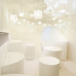 'Salon du Fromage' shop and restaurant in Paris by Japanese architect Kotaro Horiuchi.