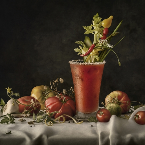 Photographer Greg Stroube takes classic cocktails and styles them in classical settings - from a Vermeer-esque Bloody Mary to a Renaissance Sangria.