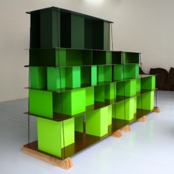 'Archibox Systeme' is a storage system made of Dibond by Bertrand Pincemin.