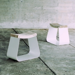 'Henri' by French designer Alexandre Reigner is stool made of wood and aluminium. Inspired by scandinavian and japanese styles.