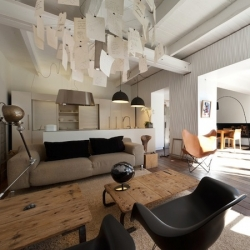 'House in Prado' in Marseille - France by Maurice Padovani interior designer.