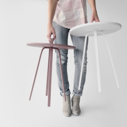 TOR by Lambie & Van Hengel is a side table that does not need a fixed location. It is designed to be moved around.