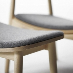 'Hiroshima' chair is done by Naoto Fukasawa for Maruni, the chair conveys an elegant simplicity that places this piece of furniture between design and craft.