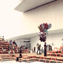 Picnictopìa, installation for MAXXI, the National Museum of XXI Century Arts, the first Italian national institution devoted to contemporary creativity and conceived as a broad cultural campus.