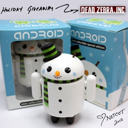 NOTCOT Holiday Giveaway #15: Dead Zebra Inc is giving away 10 of their limited edition new SNOWMAN ANDROID toys!!!