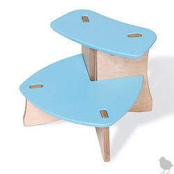 OFFI Snap Step Stool - Blue ~ adorable little semi-DIY stool for kids ~ so cute and on sale!