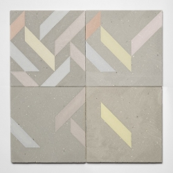 'Playtime' concrete tiles for indoor and outdoor use by young designer Xiral Segard.