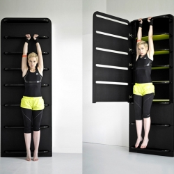 Slick home storage/fitness hybrid by Lucie Koldová.
