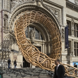 'Timber Wave' at Victoria & Albert Museum in London by Amanda Levete.