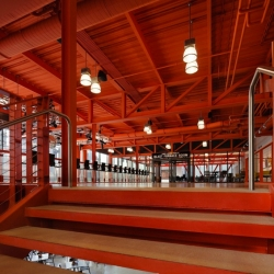 'ArtsQuest Center' in a former Bethlehem Steel Corporation factory by Spillman Farmer Architects